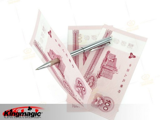 Metalen Pen penetratie - pen door dollar