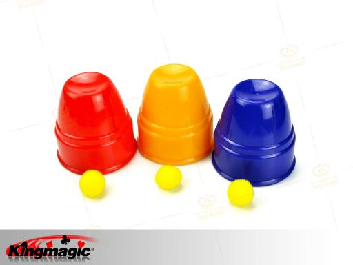 Magic Cups and Balls Plastic (Professional)