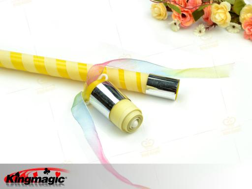 Appearing Cane - Bright yellow & Silver Plastic 90CM