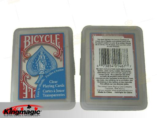 Bicycle clear playing card (Blue)