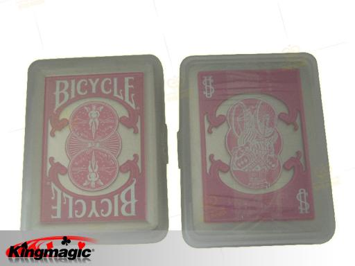 Bicycle-Clear Plastic Poker (Pink)