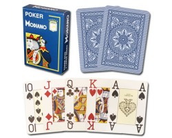 Modiano Cristallo Poker Size, 4 PIP Jumbo for contact lenses BLUE