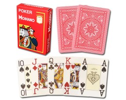 Modiano Cristallo Poker Size, 4 PIP Jumbo for contact lenses RED