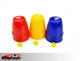 Magic Cups and Balls Plastic