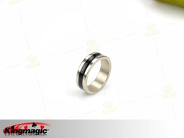 PK Ring Dual Black Line 18mm (Small)