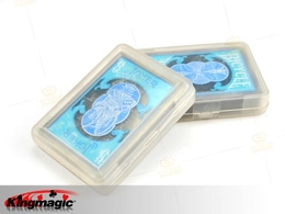 Bicycle-Clear Plastic Poker (Blue)