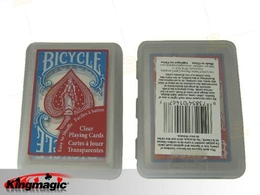 Bicycle clear playing card (Red)