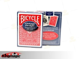 Bicycle Vintage Tangent Back Playing Cards (Red)