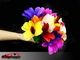 Appearing feather bouquet to ball - Colorful