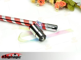 Appearing Cane - Bright Red & silver Plastic 90CM