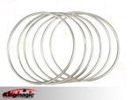 6 Linking Rings (steel pipe) with magent 32cm