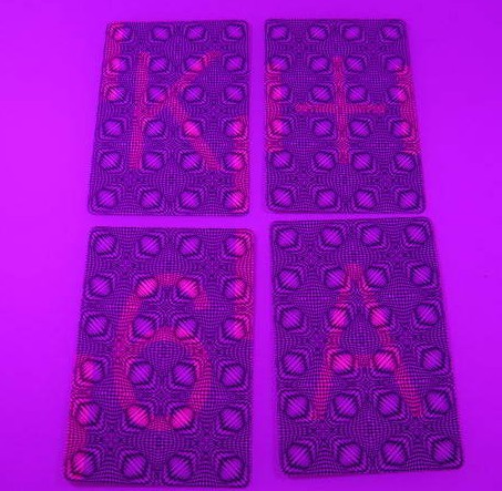 Plastic marked cards playing cards (BLUE/RED)